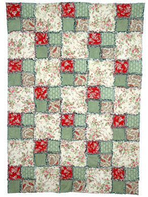Ulla's Quilt World: Patchwork bag, flowers + pattern - quilt